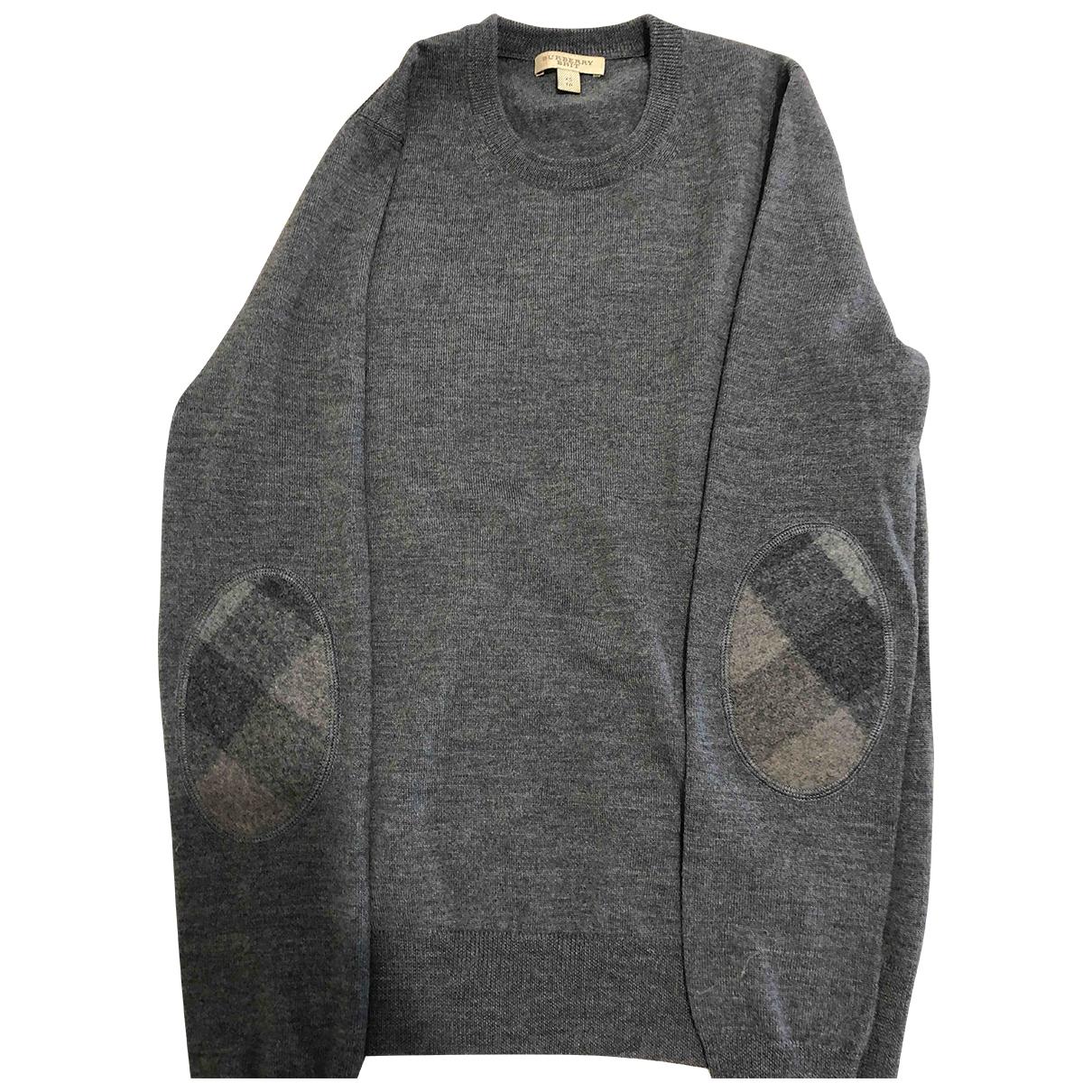 Burberry \N Pullover.Westen.Sweatshirts  in  Grau Baumwolle