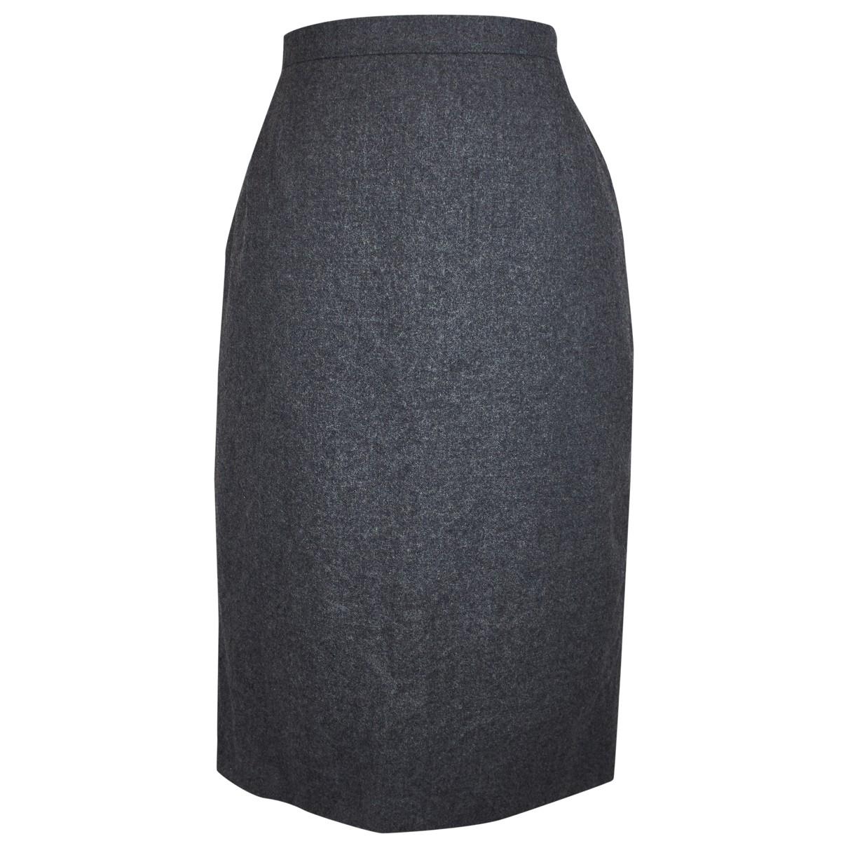 Dior - Jupe   pour femme en laine - gris