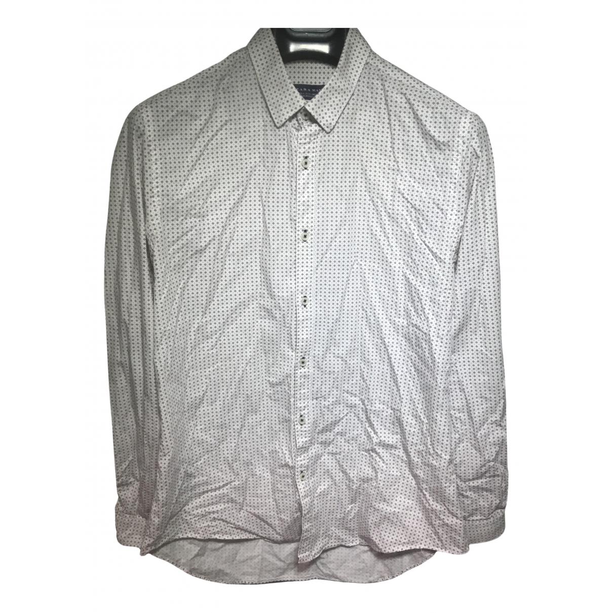 Zara - Chemises   pour homme en coton - blanc