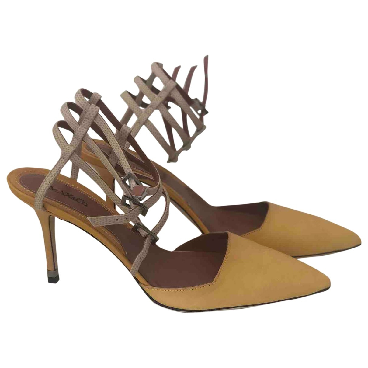 Max & Co \N Yellow Leather Heels for Women 40 EU