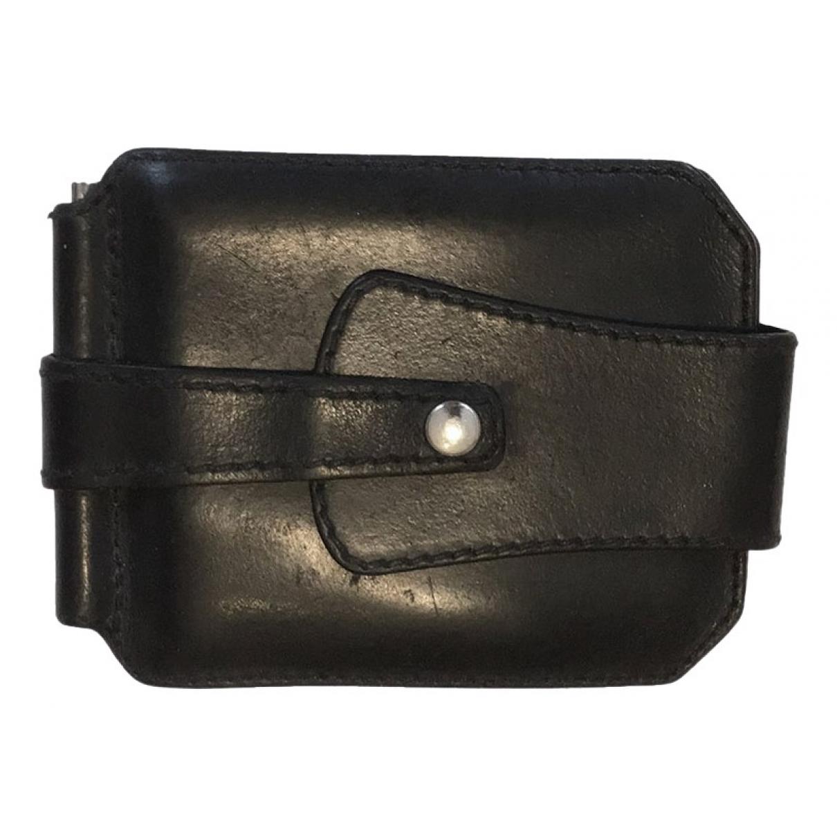Raf Simons \N Black Leather Small bag, wallet & cases for Men \N
