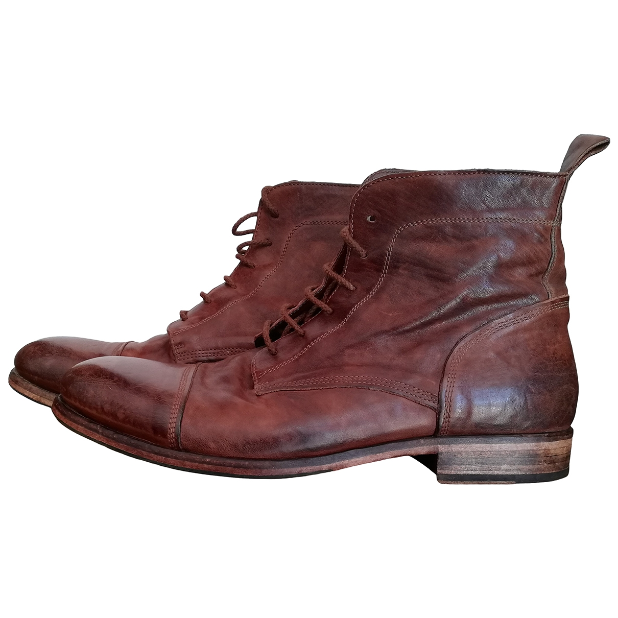 Non Signé / Unsigned \N Brown Leather Boots for Men 43 EU