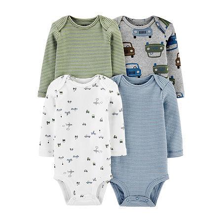Carters Little Baby Basic Baby Boys 4-pc. Bodysuit, 9 Months , Multiple Colors