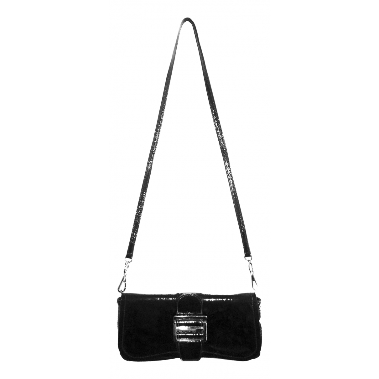 Givenchy \N Clutch in  Schwarz Lackleder