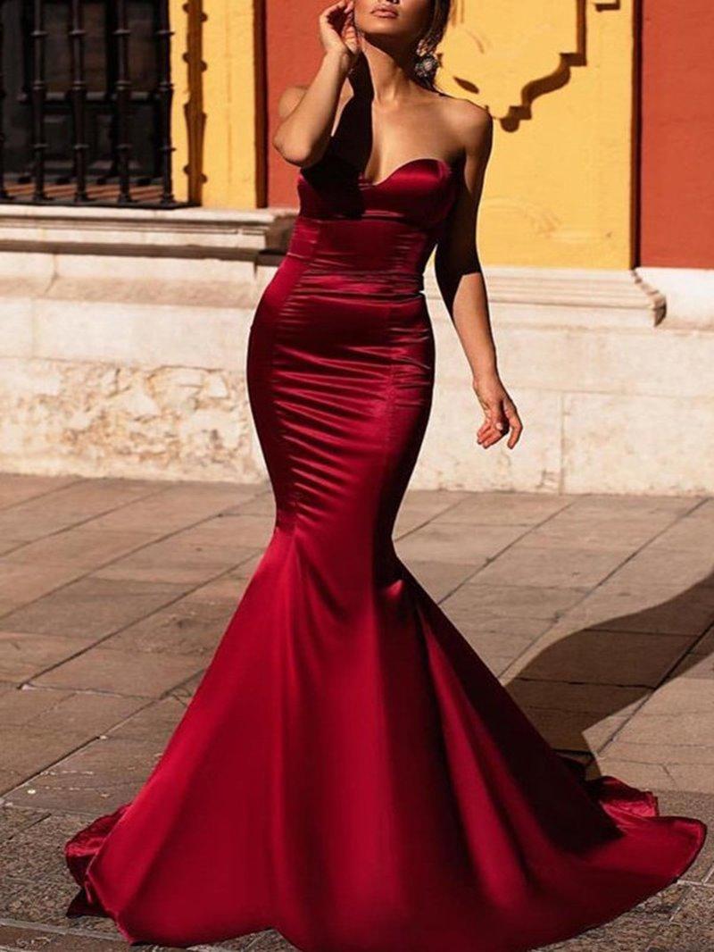 Ericdress Elegant Sweetheart Satin Mermaid Evening Dress