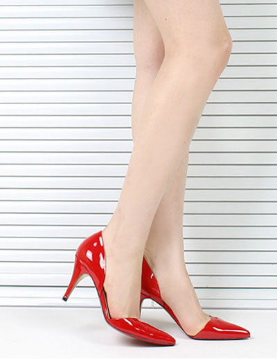 Milanoo Solid Color Silk And Satin Pointy Toe Heels
