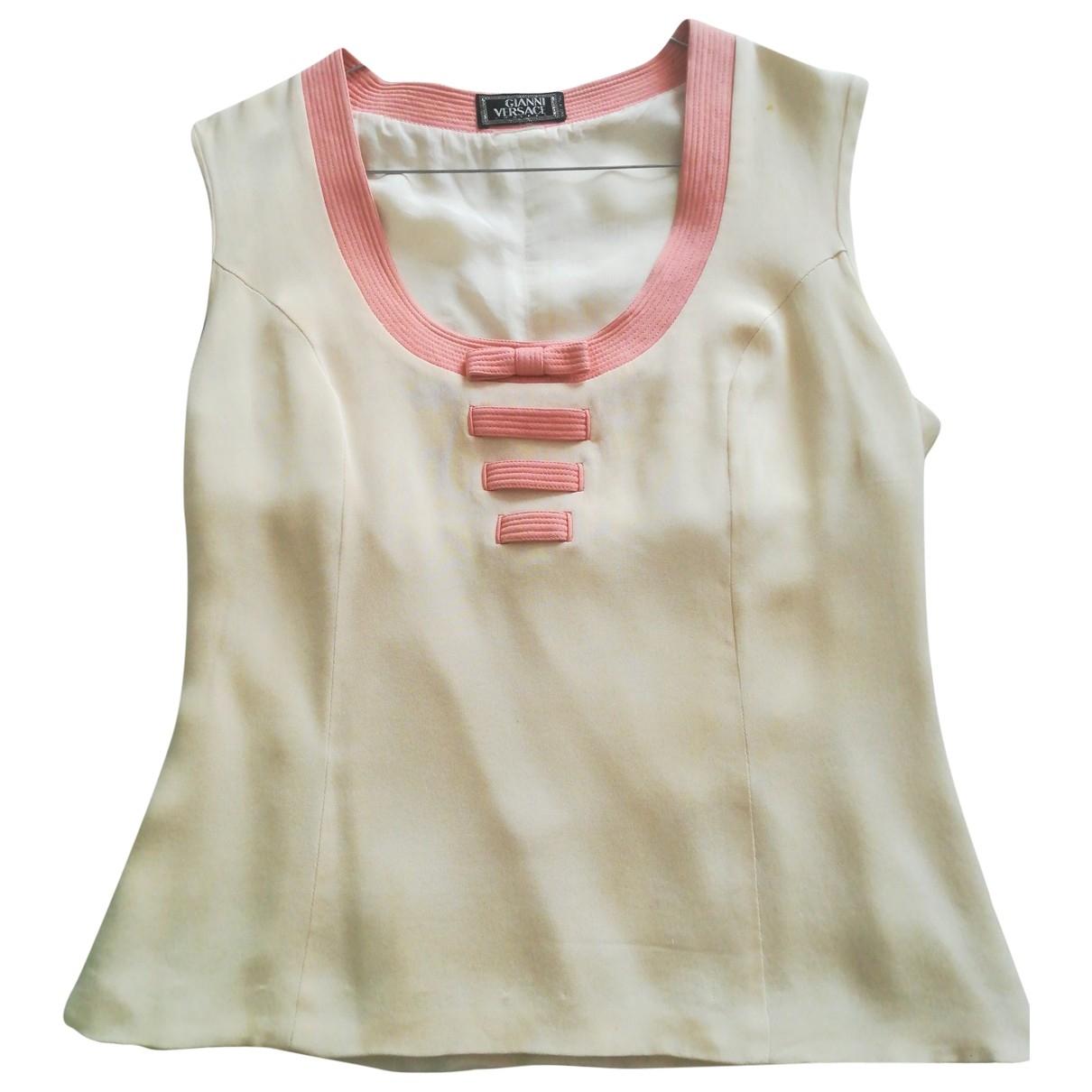 Gianni Versace \N Beige Silk  top for Women 42 IT