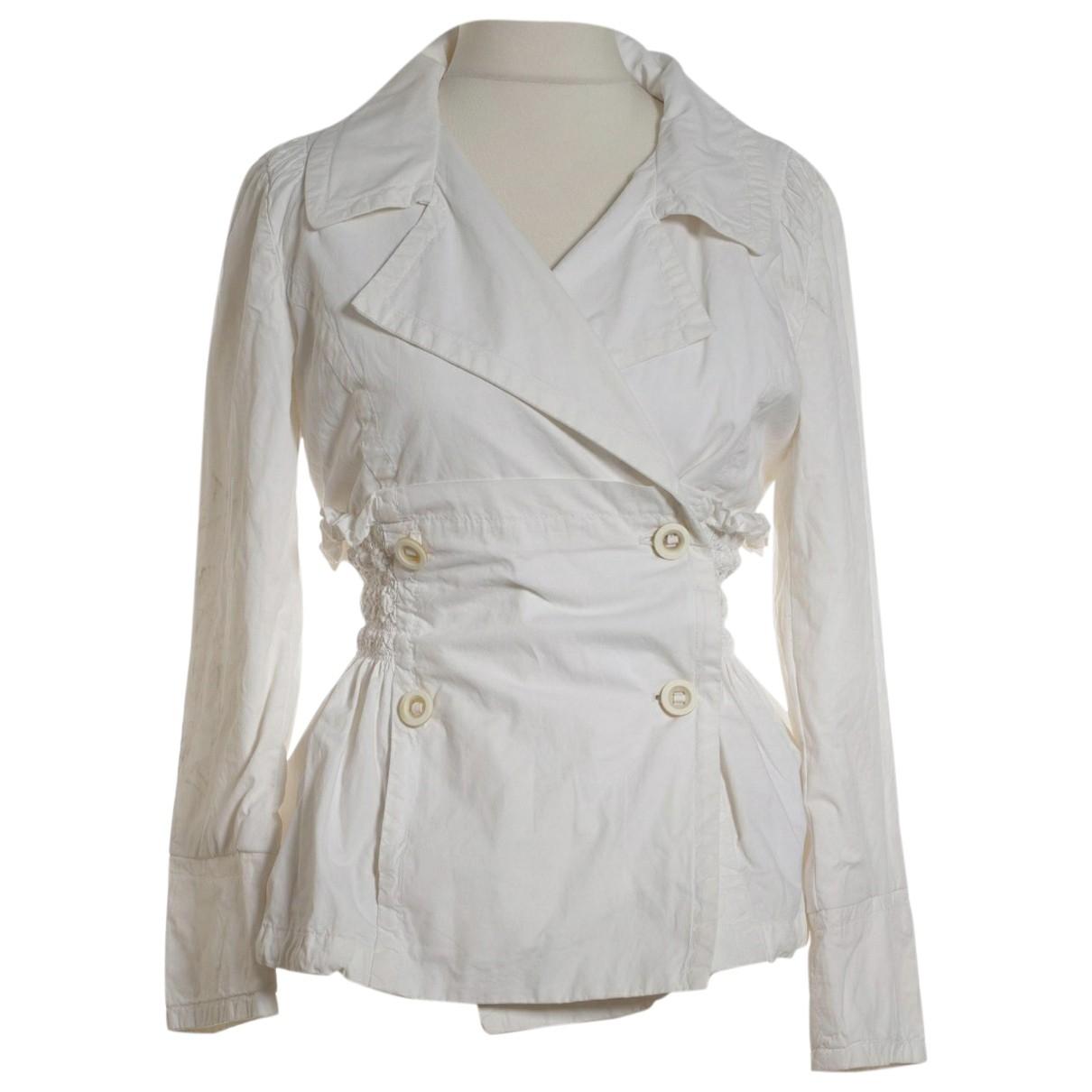 Ermanno Scervino - Veste   pour femme en coton - blanc