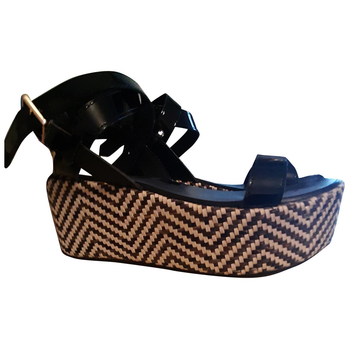 Liu.jo - Sandales   pour femme en cuir verni - noir