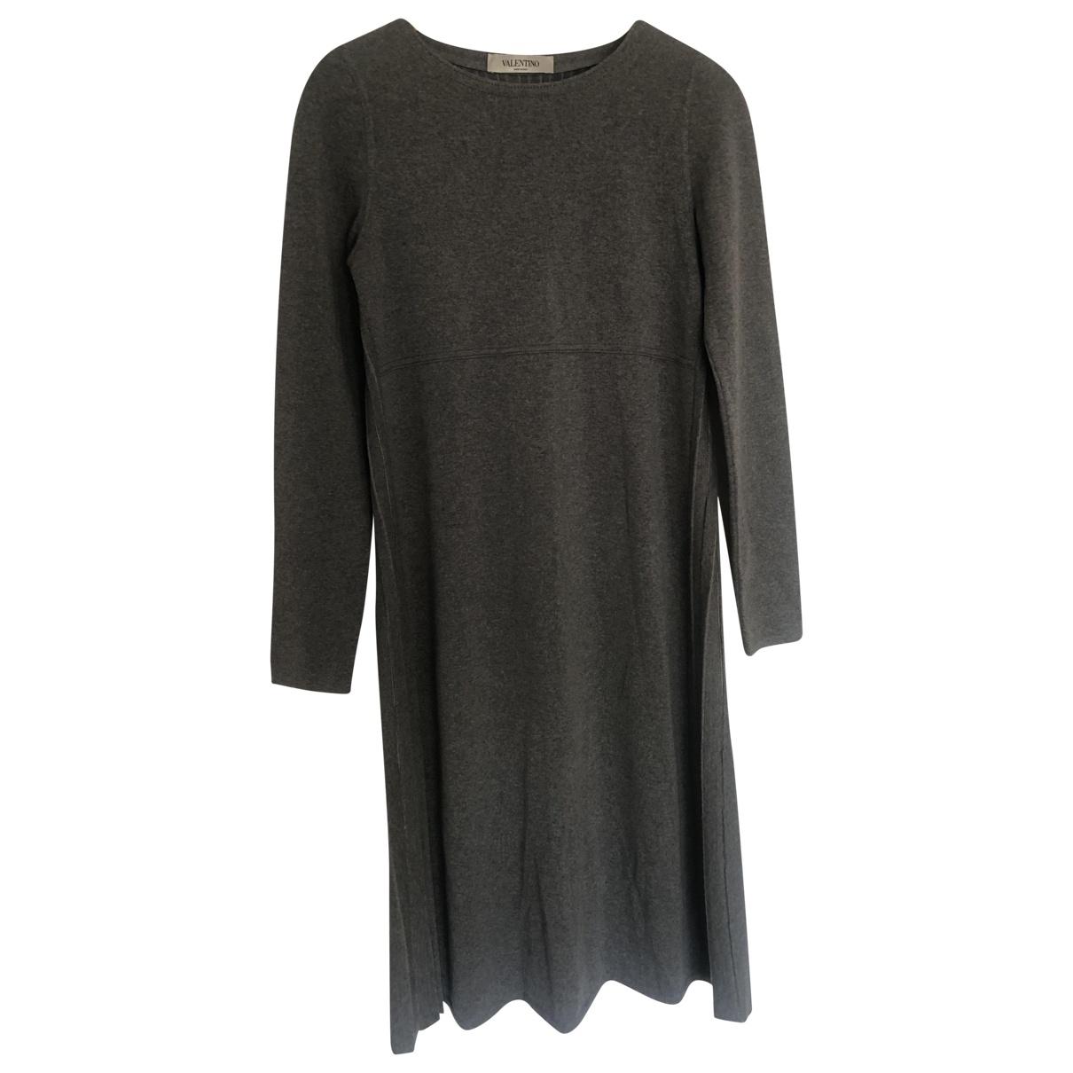 Valentino Garavani \N Kleid in  Grau Wolle