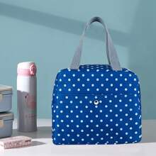 Polka Dot Pattern Insulation Lunch Bag