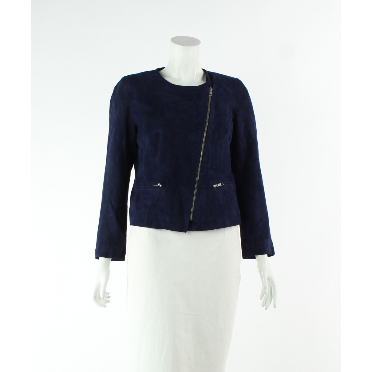 Sandro \N Navy Suede jacket for Women 36 FR