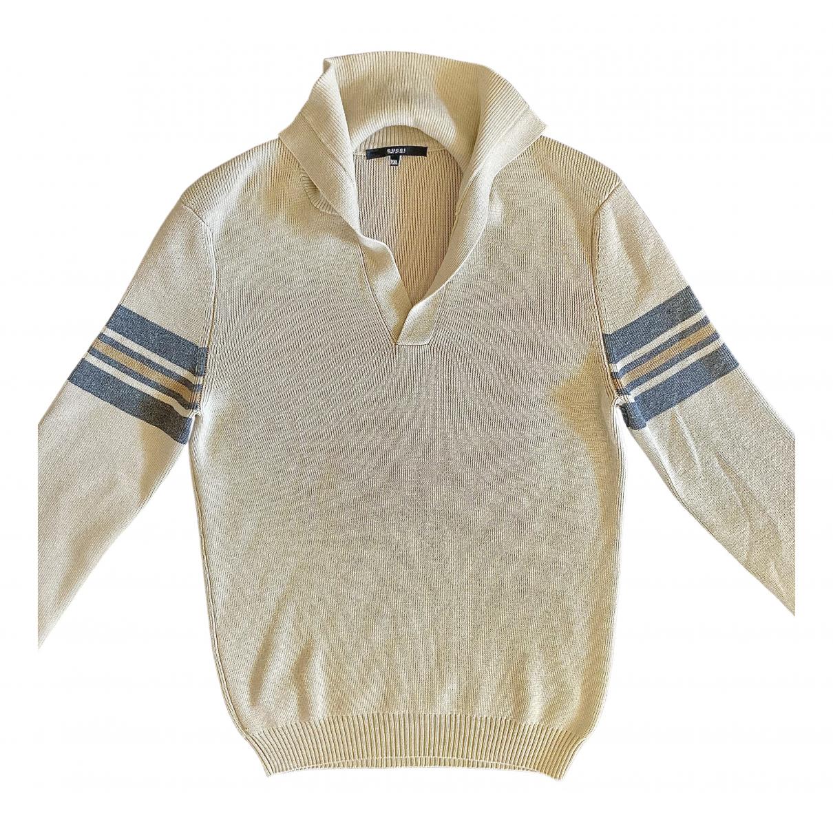 Gucci - Pulls.Gilets.Sweats   pour homme en laine - beige