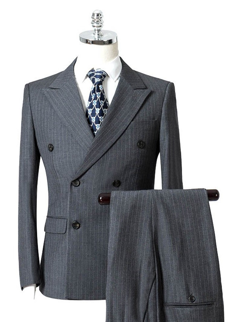 Ericdress Double-Breasted Mens Dress Suit