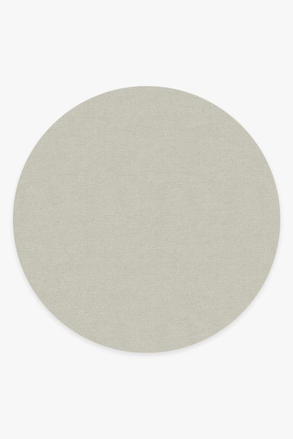 Washable Rug Cover | Heathered Solid Dove Grey Rug | Stain-Resistant | Ruggable | 8' Round