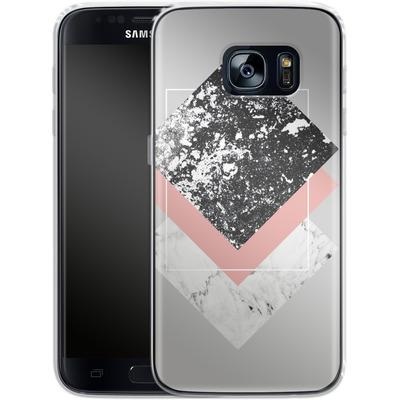 Samsung Galaxy S7 Silikon Handyhuelle - Geometric Textures 1 von Mareike Bohmer