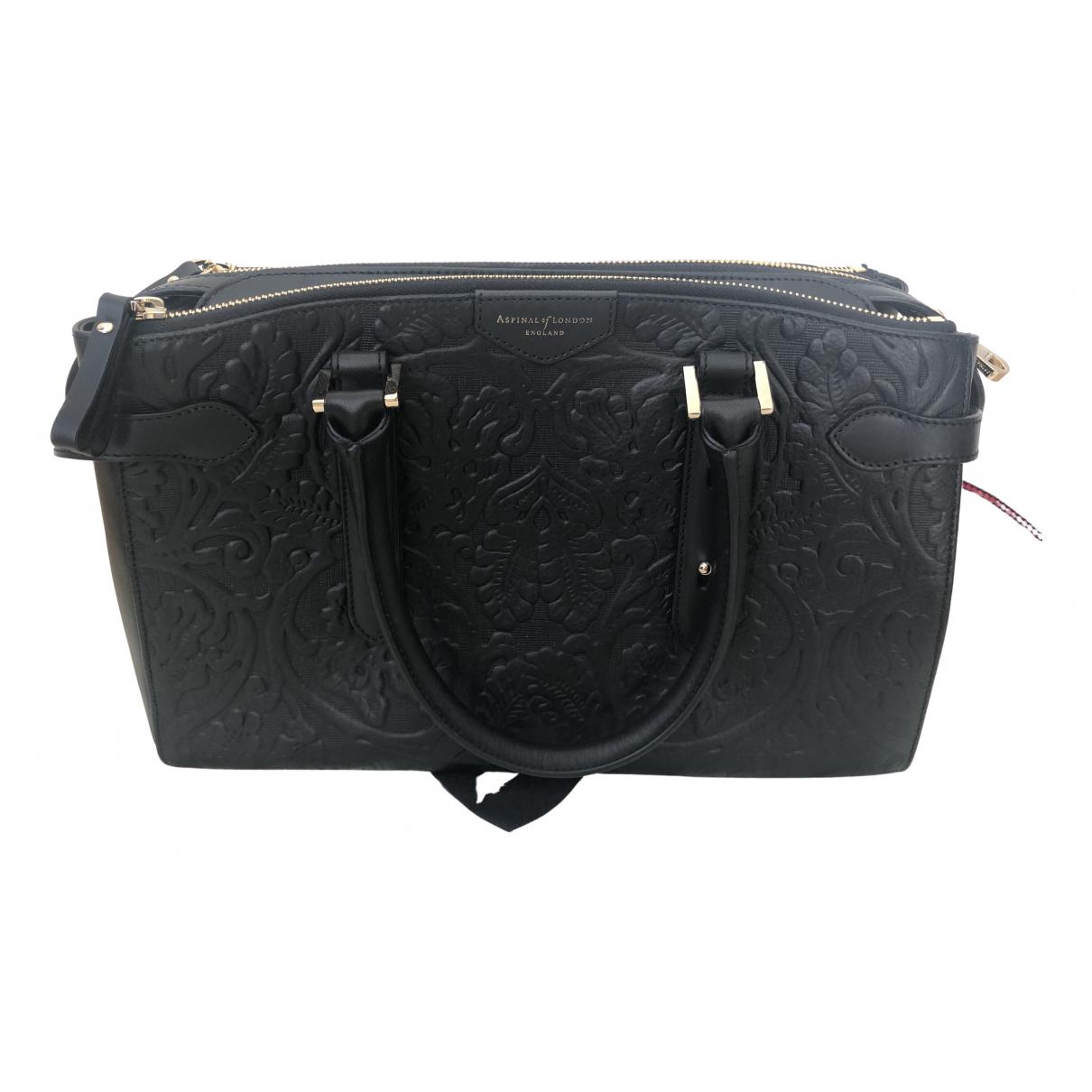 Aspinal Of London \N Handtasche in  Schwarz Leder