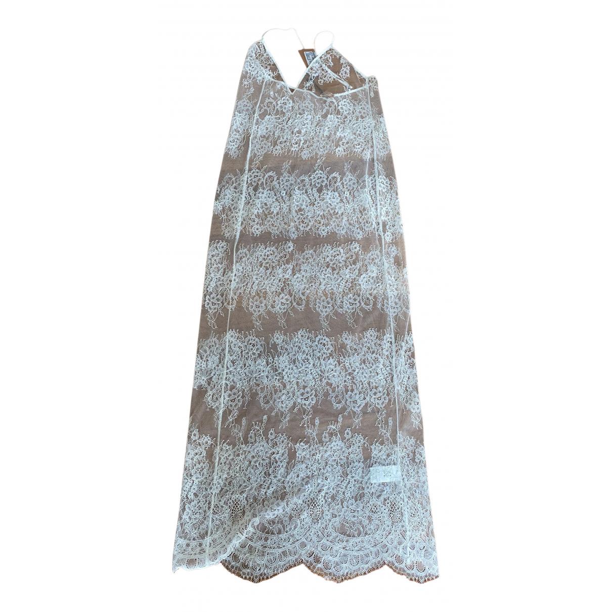 Ermanno Scervino \N Kleid in  Weiss Spitze