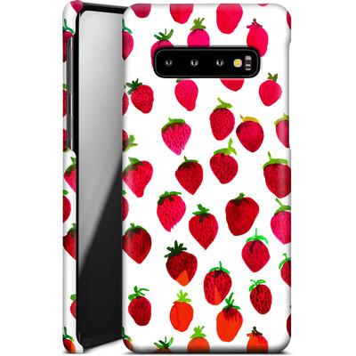 Samsung Galaxy S10 Smartphone Huelle - Strawberries von Amy Sia