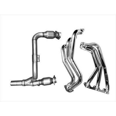 BBK Performance Long Tube Headers with Cats (Polished Silver Ceramic) - 40500