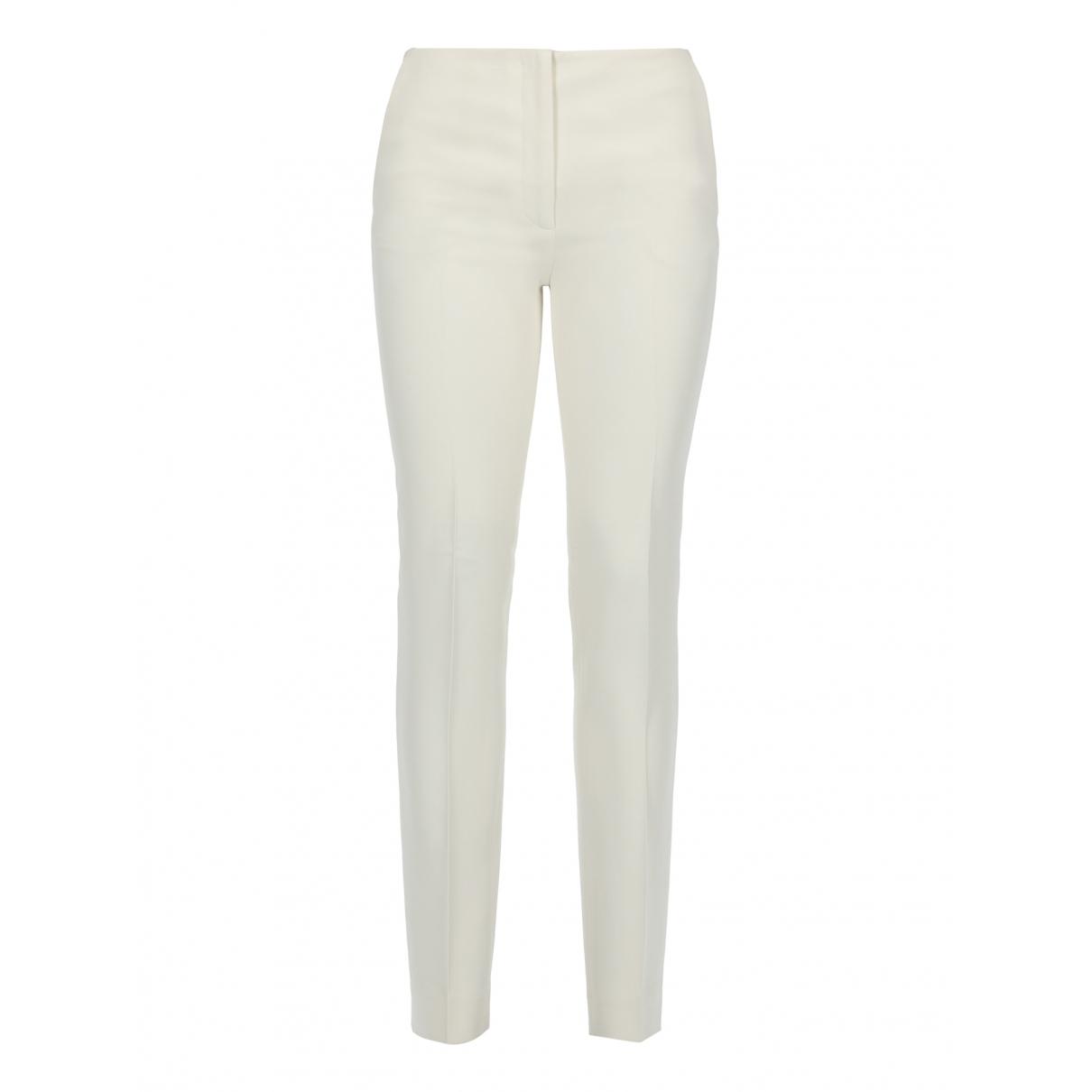 Miu Miu \N White Trousers for Women 38 IT