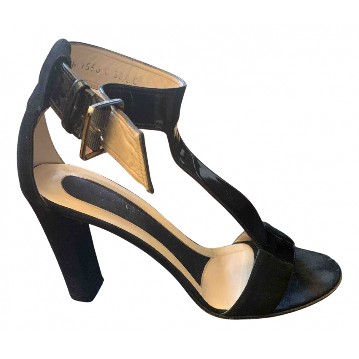 Gucci N Black Patent leather Sandals for Women 38.5 EU