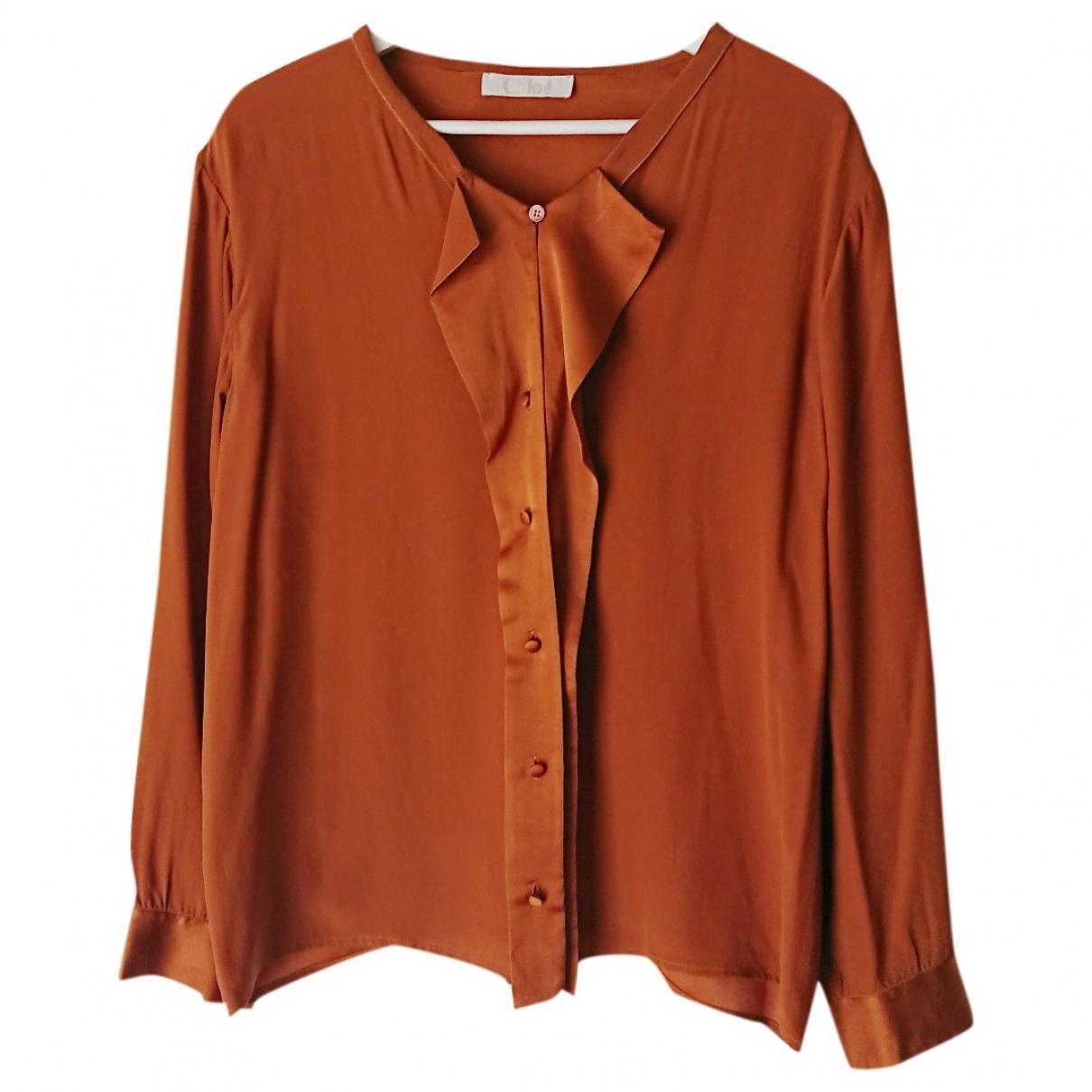 Chloé \N Brown Silk  top for Women 36 FR