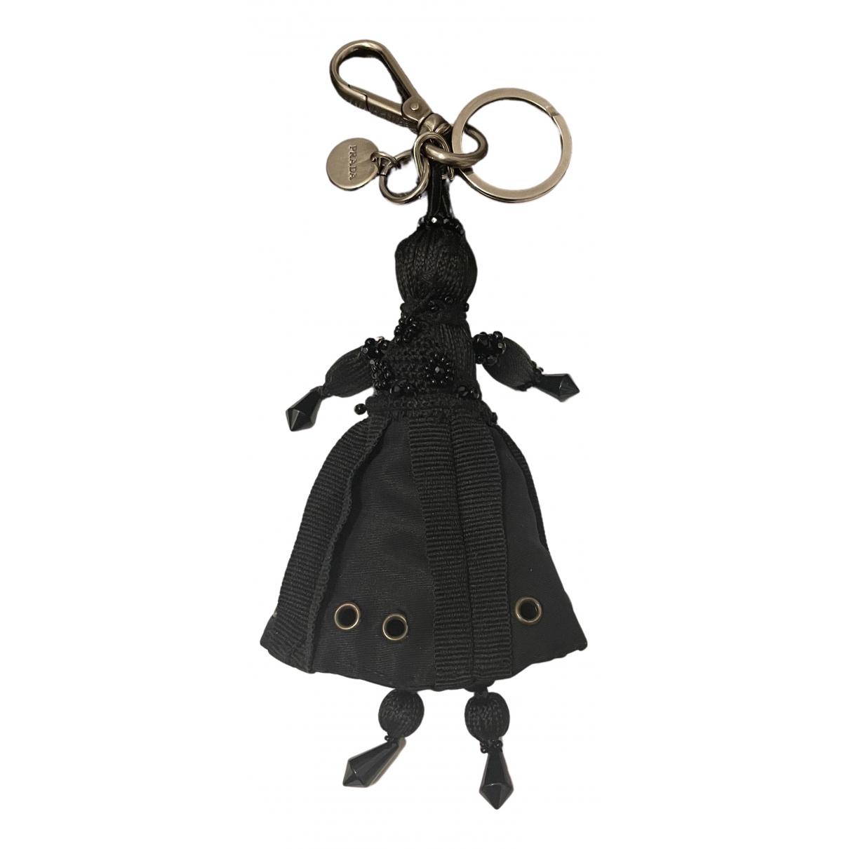 Prada - Bijoux de sac   pour femme en toile - noir