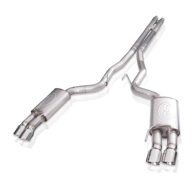 Stainless Works M18CBHPCL Legend Catback Exhaust Performance Connect w/ H-Pipe Ford Mustang GT 18-20