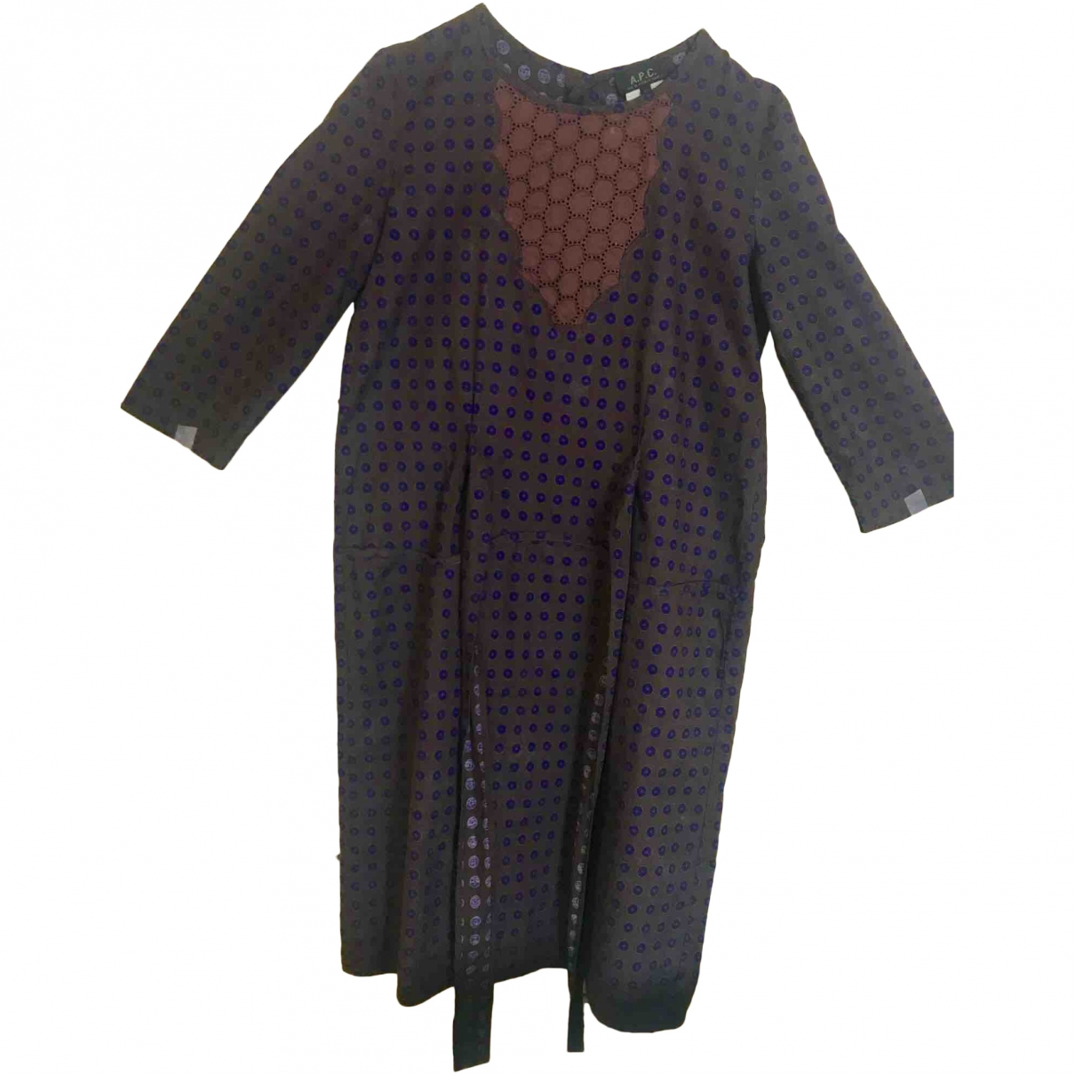 Apc \N Brown Cotton dress for Women 38 FR