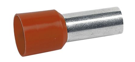 Legrand , Starfix Insulated Crimp Bootlace Ferrule, 12mm Pin Length, 4.9mm Pin Diameter, 10mm² Wire Size, Brown