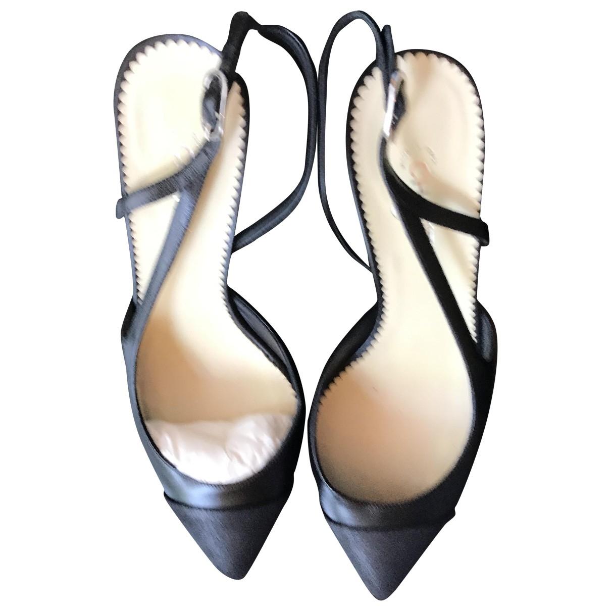 Chanel \N Black Leather Heels for Women 38 EU