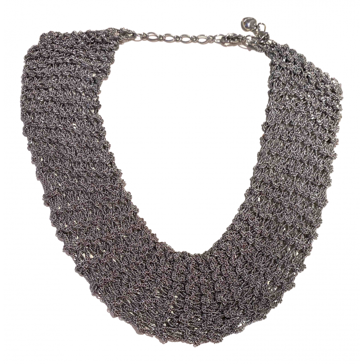 Tophop Boutique \N Kette in  Silber Metall