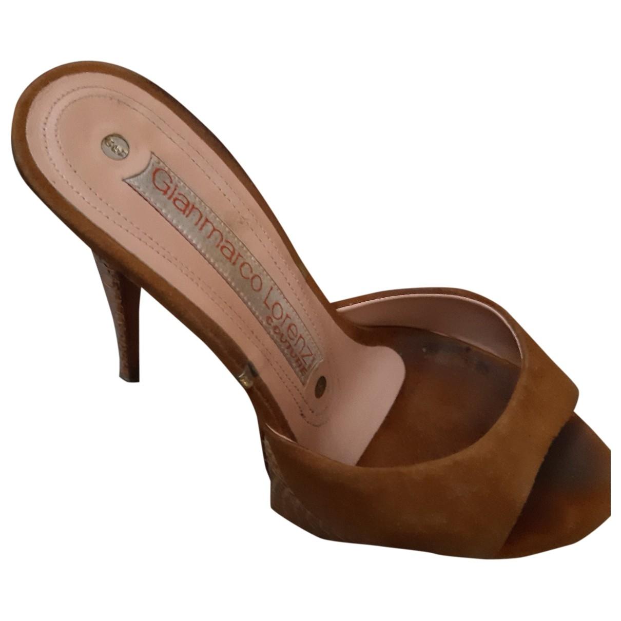 Gianmarco Lorenzi - Escarpins   pour femme en cuir - marron