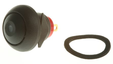 RS PRO Single Pole Single Throw (SPST) Momentary Green LED Miniature Push Button Switch, IP67, 13.6 (Dia.)mm, Panel