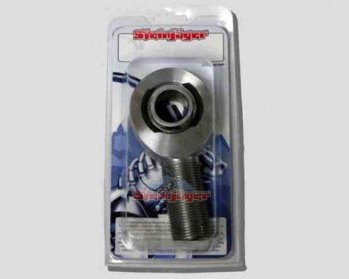 Steinjager J0029003 1 Pack SJ-MXML-16 1 inch -12 LH x 1 inch Bore 4130 Chrome Moly Spherical Rod Ends Bearing Bright Chrome Finish