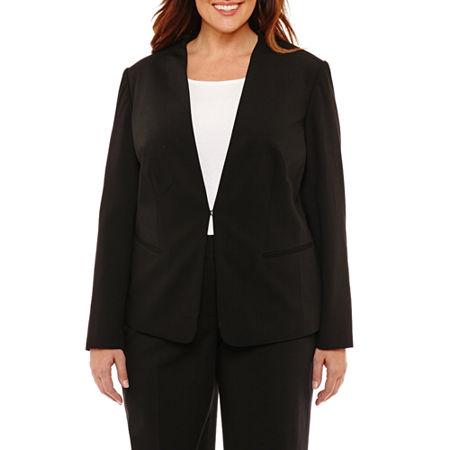 Liz Claiborne Suiting Jacket - Plus, 22w , Black
