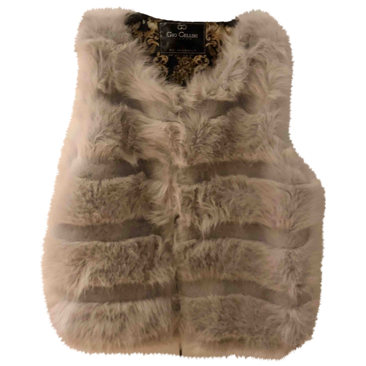Non Signé / Unsigned \N Grey Faux fur jacket for Women 40 IT