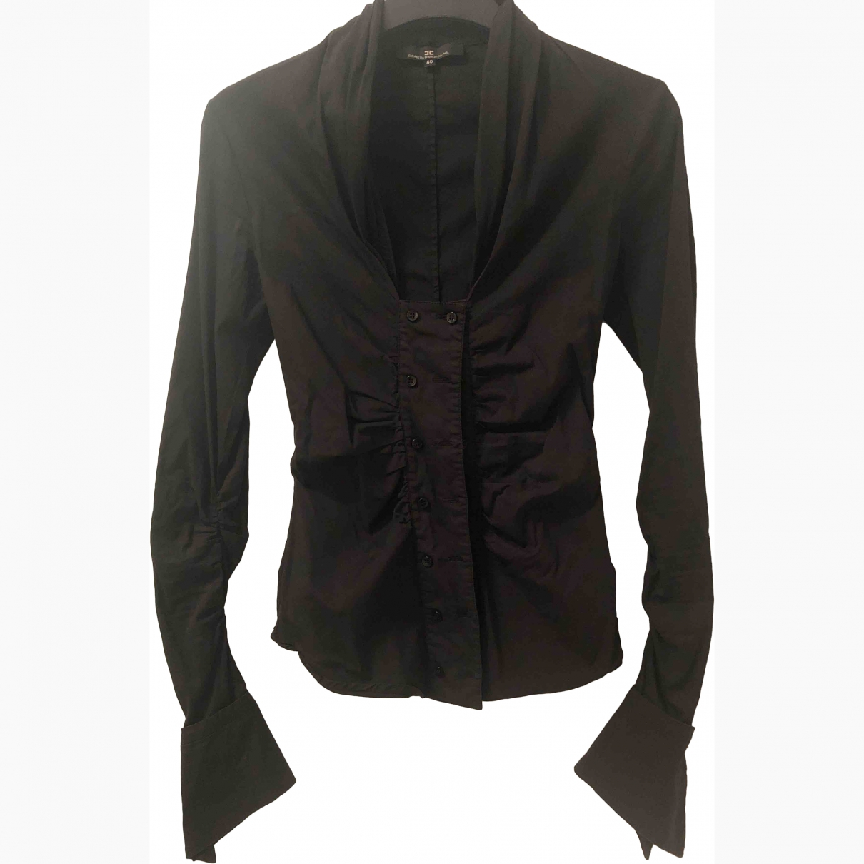 Elisabetta Franchi \N Black Cotton  top for Women 40 IT