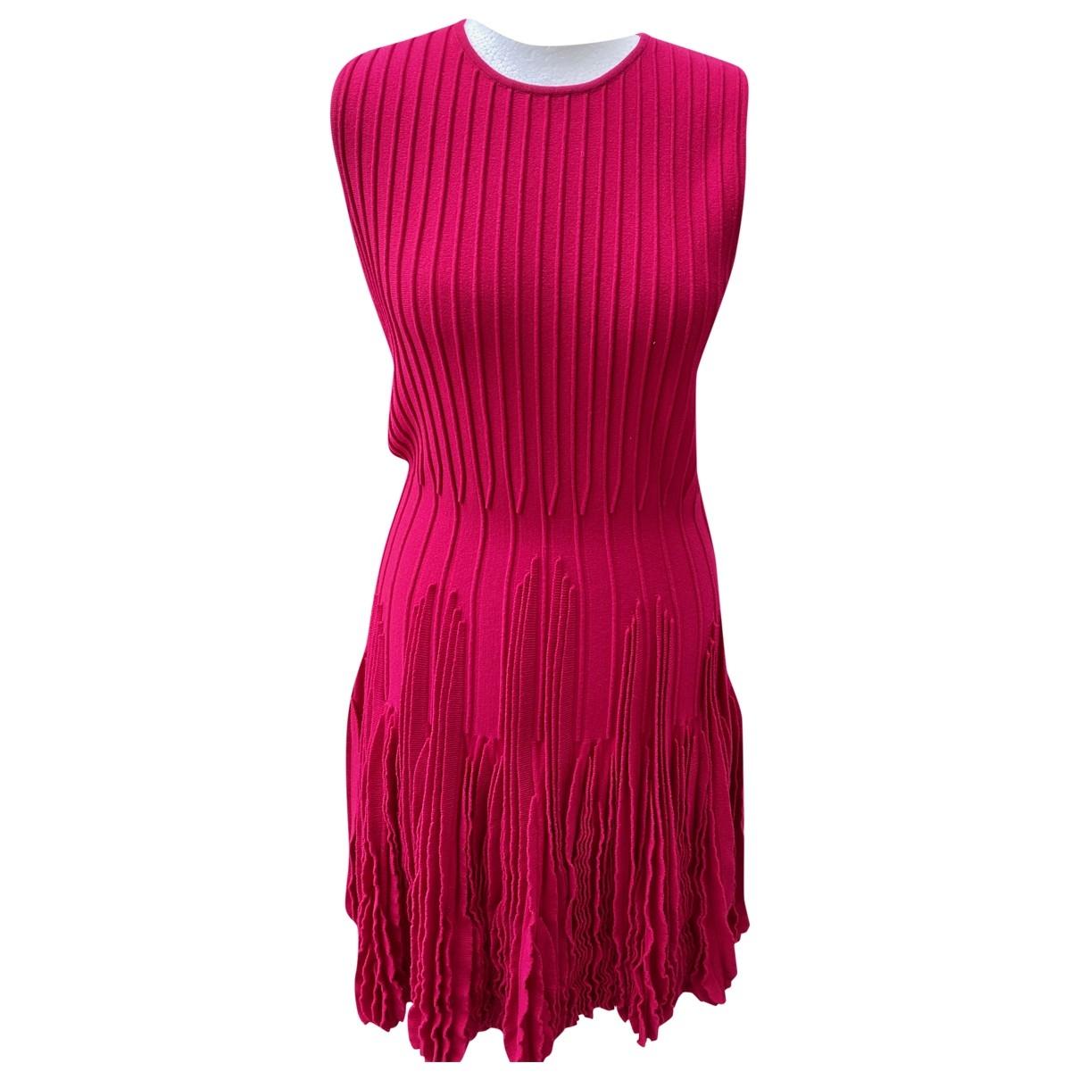 Alexander Mcqueen \N Kleid in  Rot Wolle