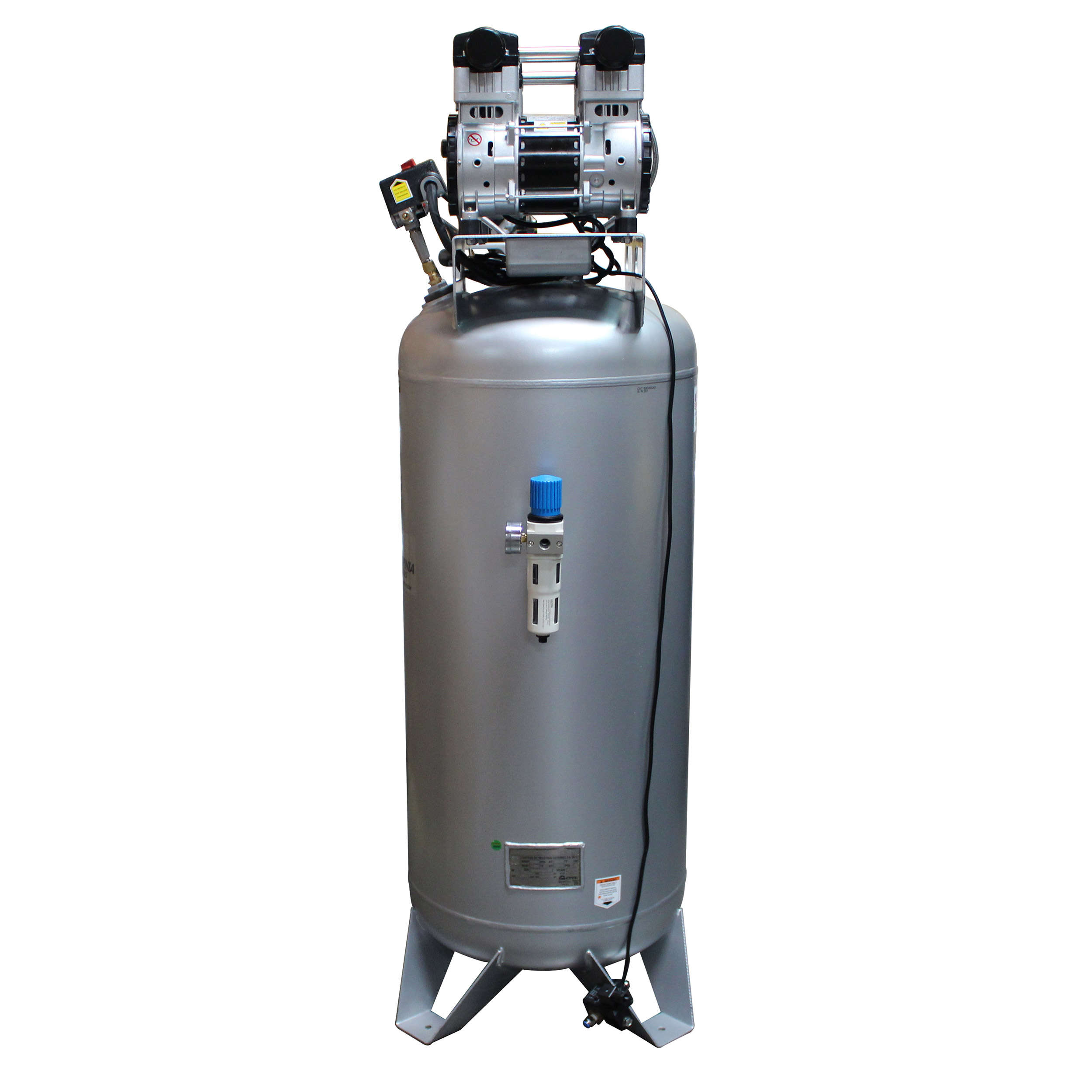 Steel Tank Air Compressor Automatic Drain Valve, 60040CAD, Ultra Quiet  & Oil-Free, 4.0 Hp, 60 gallon