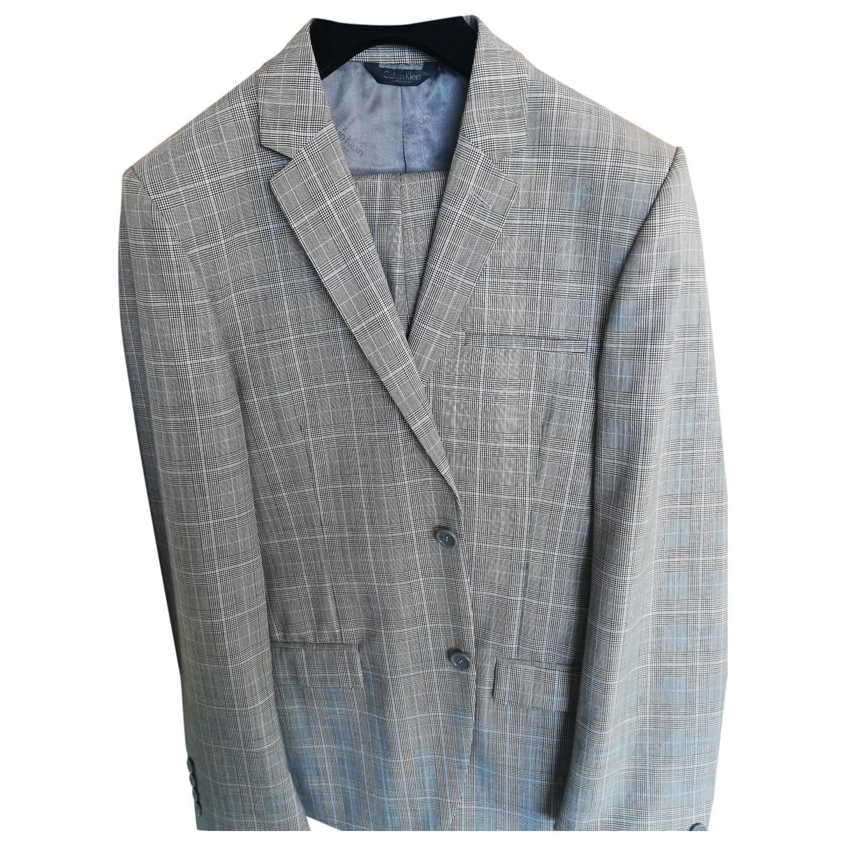 Calvin Klein Collection \N Grey Wool Suits for Men 48 IT