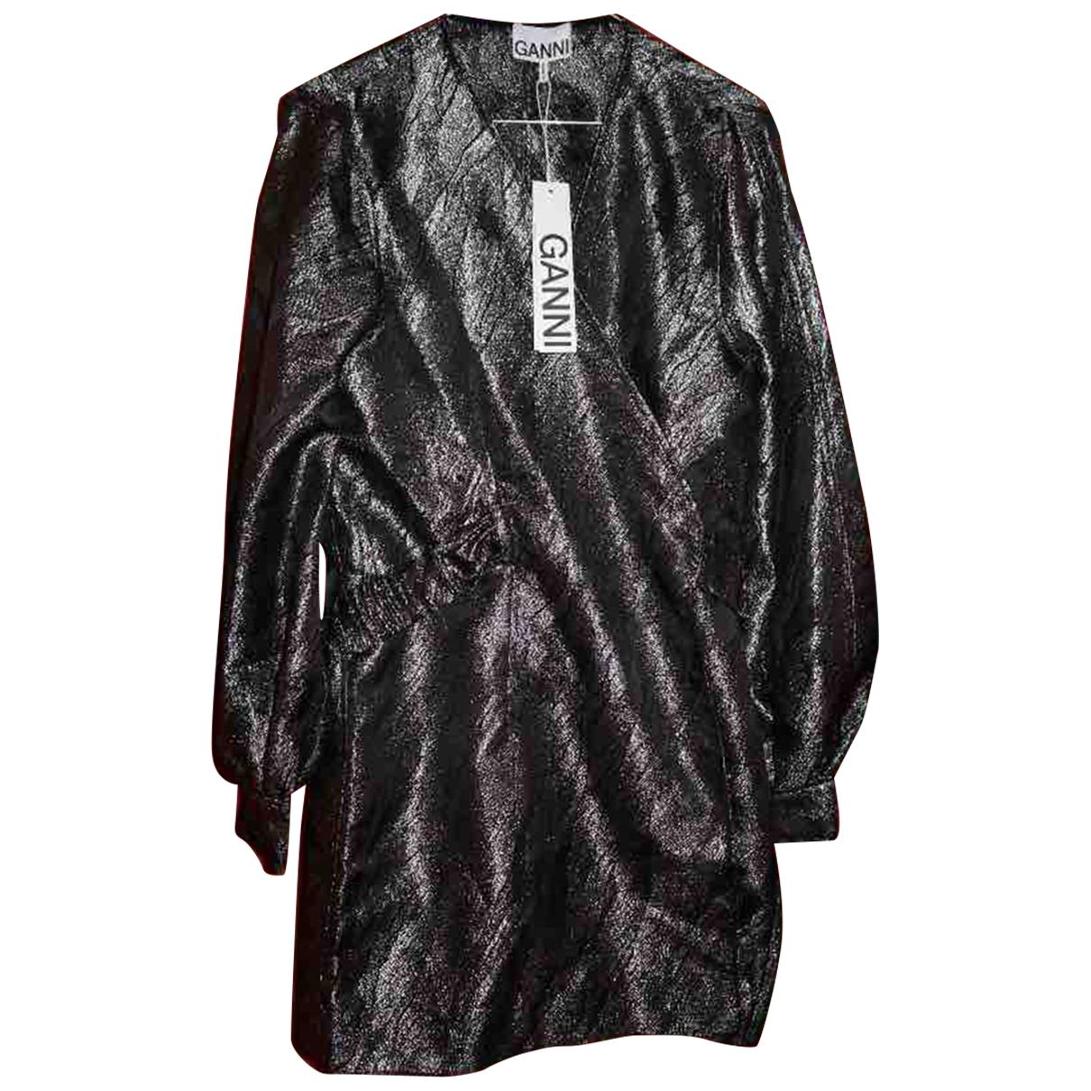 Ganni Fall Winter 2019 Kleid in  Metallic Mit Pailletten