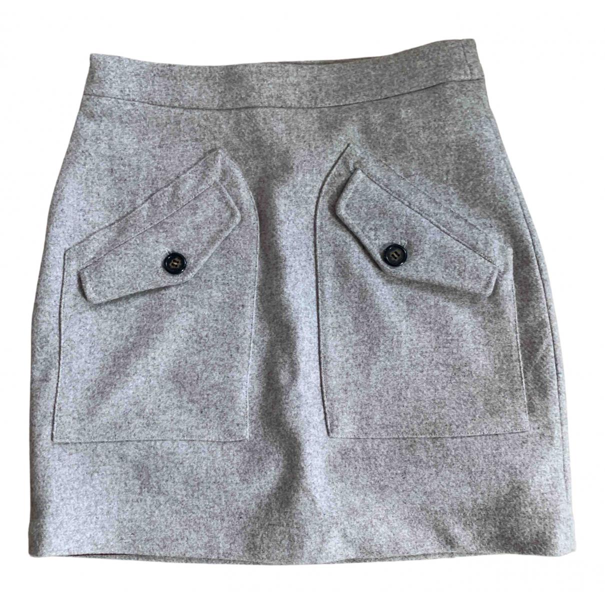 Valentine Gauthier - Jupe   pour femme en laine - beige
