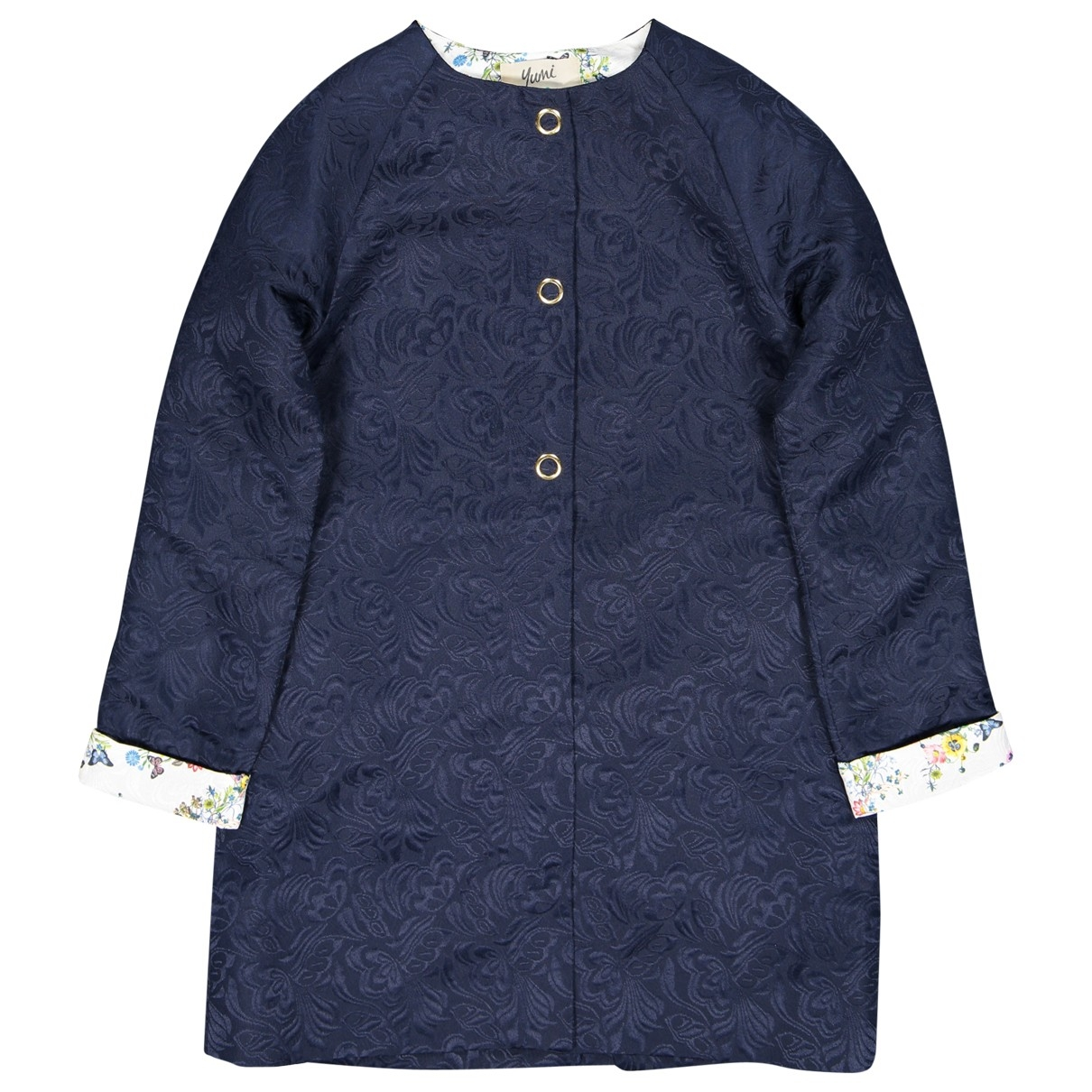 Non Signe / Unsigned \N Jacke in  Marine Polyester