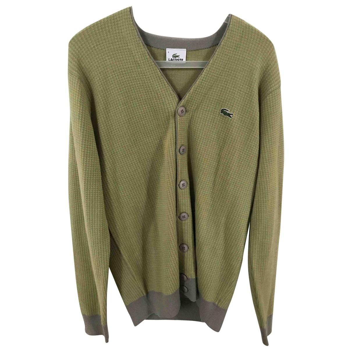 Lacoste - Pull   pour femme en laine - vert
