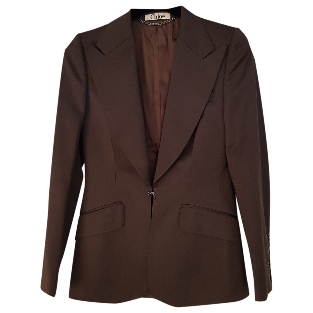 Chloé \N Brown Wool jacket for Women 40 FR
