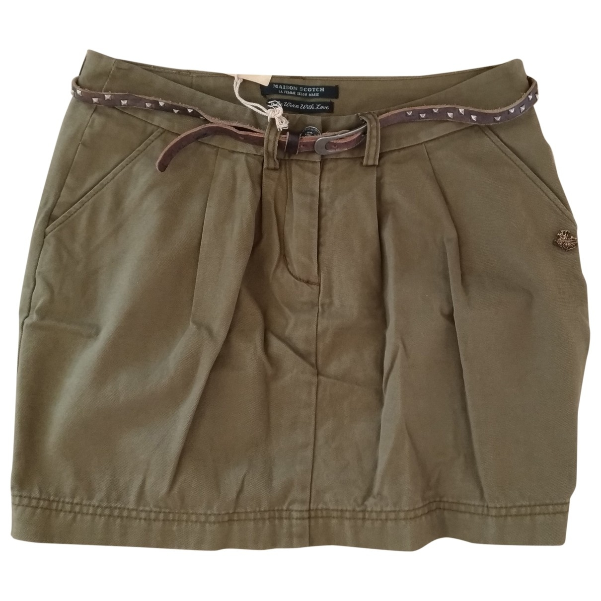 Maison Scotch \N Rocke in  Khaki Leinen
