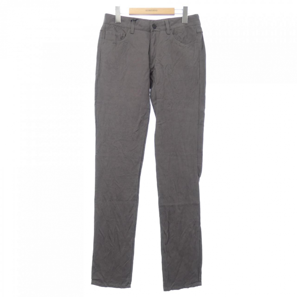 Bottega Veneta \N Grey Cloth Trousers for Women 38 IT