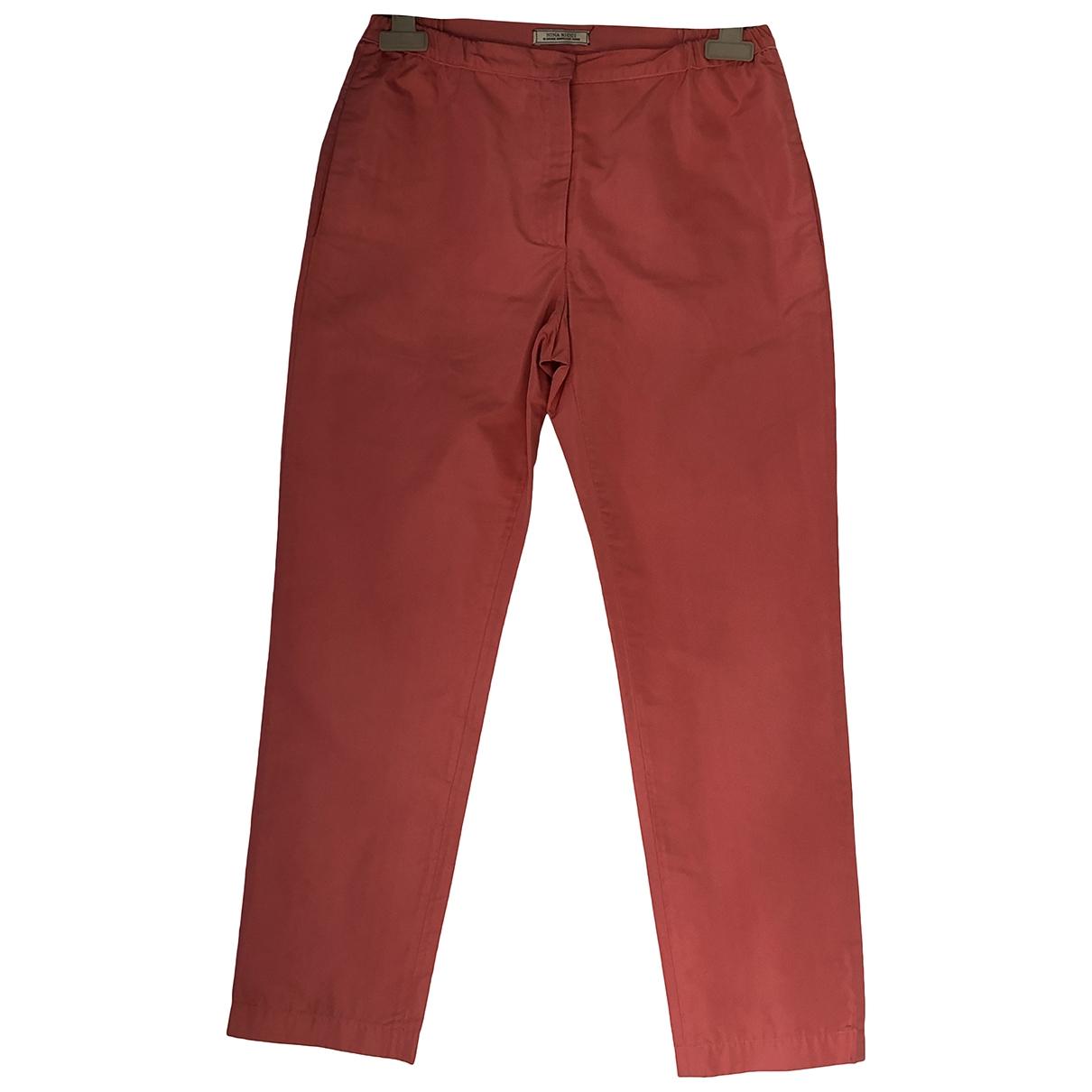 Pantalon recto de Seda Nina Ricci